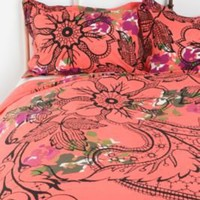 UrbanOutfitters.com &gt; Lace Floral Sham - Set of 2