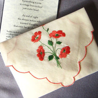 Sachet Dream Pillow Vintage Hankie Envelope by cushgoods on Etsy