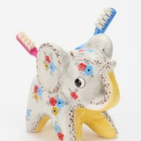 UrbanOutfitters.com &gt; Floral Elephant Toothbrush Holder