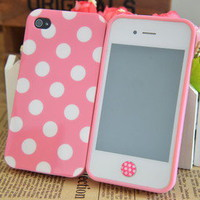 Cute Pink White Polka Do...