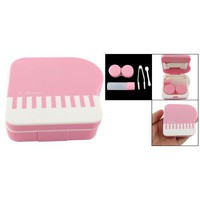 Amazon.com: Piano Design Pink Plastic Portable Contact Lens Case: Health &amp; Personal Care
