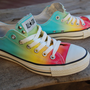 Low Top Rainbow Studded Converse Rare Vintage