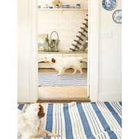 Dash and Albert Saffordshire Blue Stripe Cotton Rug