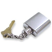 Amazon.com: Stainless Steel 1oz Brushed and Polished Keychain Flask: Kitchen & Dining