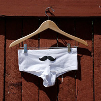 Mustache Underwear Customize by DebbieMarine on Etsy