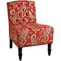 Pier 1 Imports > Catalog > Furniture > Pier1ToGo Product Details - Red Paisley Josette Chair