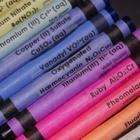 Chemistry Crayon CLEAR Labels set of 24 by QueInteresante on Etsy