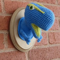 Mounted Tyrannosaurus Rex  Blue by Crochette on Etsy