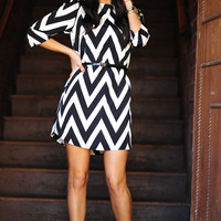 RESTOCK EVERLY: Joy For Chevron Dress | Hope&#x27;s