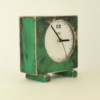 clock green oldE  FREE SHIPPING by ArtmaStudio on Etsy