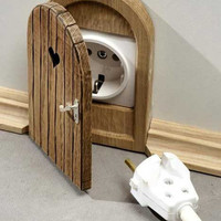 Doors  for  Mause    Electrical Sockets Cover by designerwood