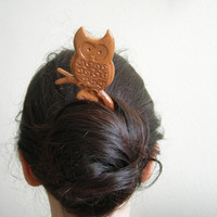 Owl hair fork by theancientmuse on Etsy