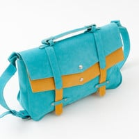 Bang Bag Tamar turquoise and yellow by StellaandLori on Etsy