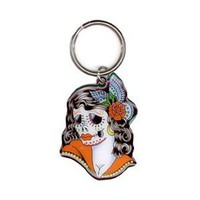 Sunny Buick - Lady Sugar Skull - Metal Keychain : Amazon.com : Automotive