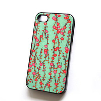 Plastic Case Pretty Cherry Blossoms iPhone Case for  iPhone 4 and 4S  Ships from USA