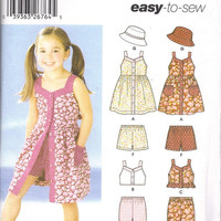 Little girls dress,summer wear, skirts,jumpers,vests, sleep ware Patterns (4)