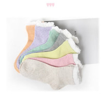 White Ruffle Retro Fashion Socks Korean Japanese Style Women Ankle Cute Vintage