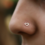 $7.95 Heart Nose Stud Sterling Silver Handcrafted by Holylandstreasures