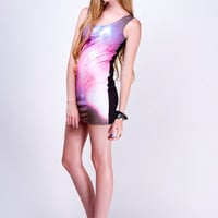 PASTEL PINK Galaxy Ombre Nebula Mini Dress xs s m l