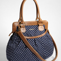 Nautical Navy Polka Dot Purse | Shop Volcom Bags Now | fredflare.com