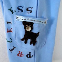 Baby Boy Pants Hand Embroidered Wit.. on Luulla