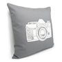 Gray and white decorative pillow cover  White by ClassicByNature