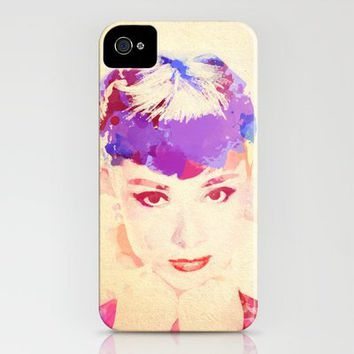 Audrey Hepburn iPhone Case by StaciaE | Society6