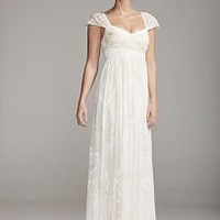 Floral Burnout Chiffon Gown - David&#x27;s Bridal