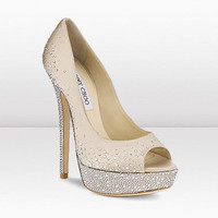 Jimmy Choo | Sugar | Satin Peep Toe Sandal | JIMMYCHOO.COM
