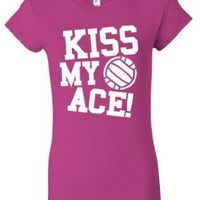 Amazon.com: Kiss My Ace Volleyball Juniors Girls Longer Length T-Shirt: Clothing