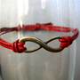 Red Infinity Bracelet by MaesDesigns on Etsy