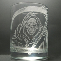 Grim reaper or death tumblr glass hand by GlassGoddessNgraving