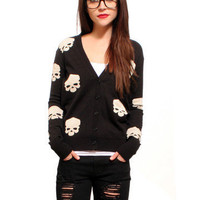 $40.00 GYPSY WARRIOR - Skull Cardigan
