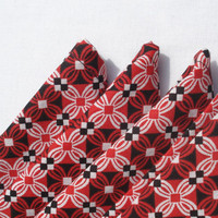 Red Black and White Geometric Cloth Napkins by TheGoodOleDays