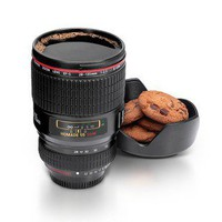 Plastic Homade Camera Lens Coffee Mug