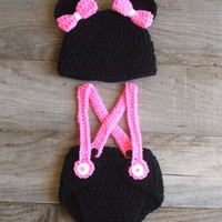 Mickey / Minnie Mouse Inspired Diaper Cover Set by KreativeKroshay