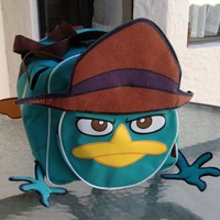 Disney Park Perry the Platypus Agent P Duffle Bag Suitcase Luggage NEW