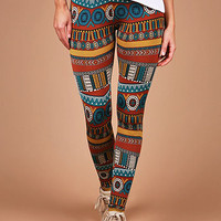 Unearthed Tribal Leggings | Printed Leggings at Pink Ice