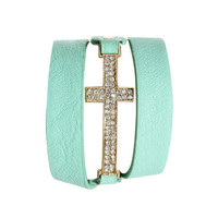 Rhinestone Cross Cuff | Shop Accessories at Wet Seal