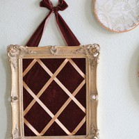 Mariette Adella Velvet Memo Board In Brown