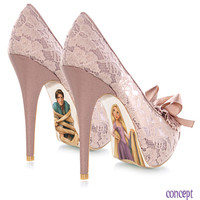 Custom hand painted Rapunzel pumps by AshtonAtelier on Etsy