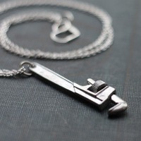 Clamp Vise Hardware Handyman Tool Necklace by contrary on Etsy