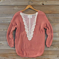 Cactus Blossom Lace Sweater, Sweet Bohemian Sweaters
