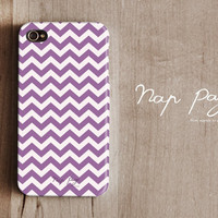 Apple iphone case for iphone iphone 5 iphone 4 iphone 4s iPhone 3Gs : Violet Chevron