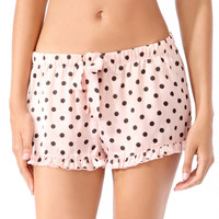 Ruffled Polka Dot PJ Shorts