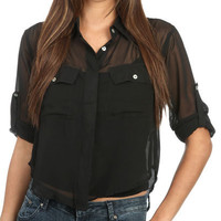 2 Pocket High Low Shirt | Shop Clearance at Wet Seal