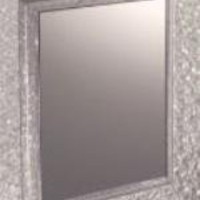 "Wall Mounted Bath Mirror - Suction Cup Square (Clear) (6.75""h x 5.5""w)"