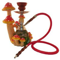 Amazon.com: 10&quot; Mushroom Garden 1-hose Hookah: Health &amp; Personal Care