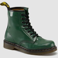 Dr Martens 1460 Boot GREEN MILLED SMOOTH - Doc Martens Boots and Shoes