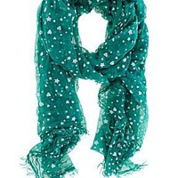 Flocked heart scarf